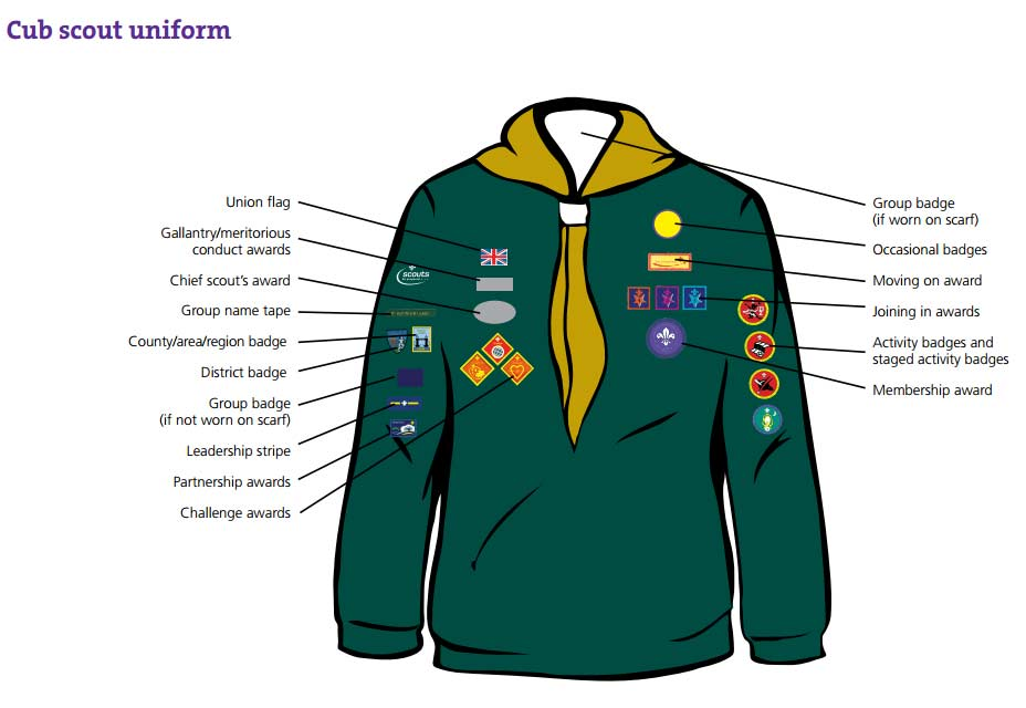 Cub badge positions